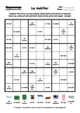 Word Sudoku to Learn French: Le mobilier