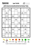 Word Sudoku to Learn French: Les fruits