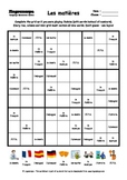 Word Sudoku to Learn French: Les matières