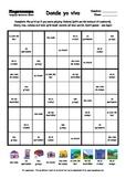 Word Sudoku to Learn Spanish: Donde yo vivo