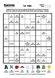 Word Sudoku to Learn Spanish: La ropa
