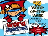 Word Superstars: Vocabulary of the Week {Level Two}