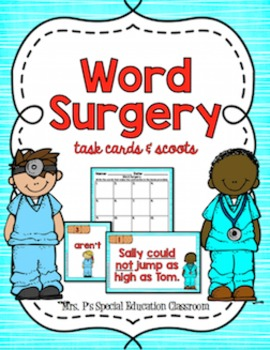 Word Surgery: Task Cards & Scoots