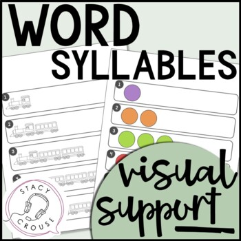 Word Syllables Visual Support