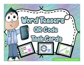 Word Teasers QR Code Task Cards