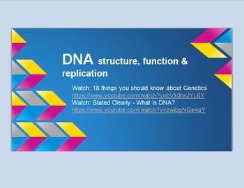 DNA structure and replication power point with Cornell notes