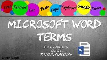 MS Word Terms and Definitions - Chalkboard Style