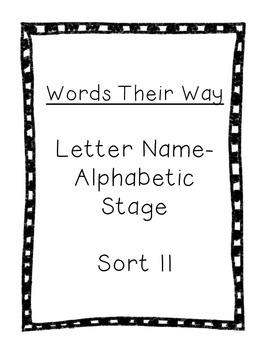 Word Their Way Letter Name Alphabetic sort 11