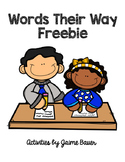 Word Study Letter Name Freebie