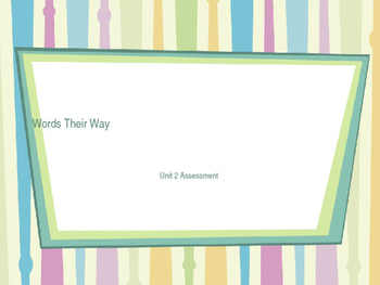 Word Their Way: Long and Short Vowel Unit 2