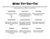 Word Tic-Tac-Toe
