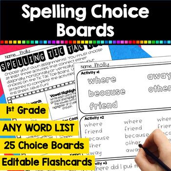 Word Tic Tac Toe Homework *EDITABLE (UPDATED)