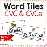 CVC Word Tiles for Kindergarten