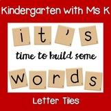 Scrabble-like Letter Tiles Printable