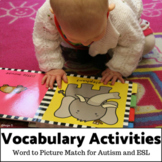 Matching Word to Picture Activities for Special Ed Set 1
