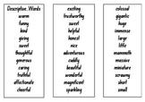 Word Tower - Descriptive