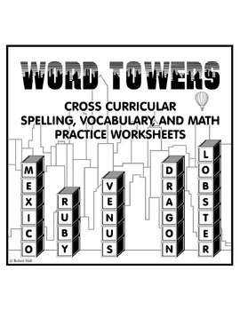 """Word Towers"" Puzzles Activity (Cross Curricular Spelling,"
