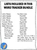 Word Tracker - Track Student Progress on Sight Word Reading