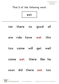 Word Tracking (Kindergarten)