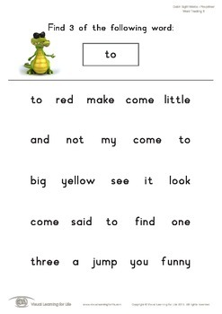 Word Tracking (Pre-K)