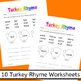 Word Turkeys - A Thanksgiving unit for Word Families, Sigh