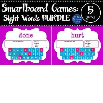 Word Value Game BUNDLE for Dolch Sight Words (Smartboard/Promethean Board)