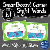 Sight Word Addition Game: Dolch 1st Grade Words (Smartboard/Promethean Board)