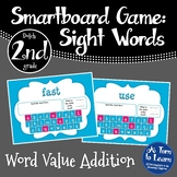 Sight Word Addition Game: Dolch 2nd Grade Words (Smartboard/Promethean Board)