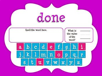 Sight Word Addition Game: Dolch 3rd Grade Words (Smartboard/Promethean Board)