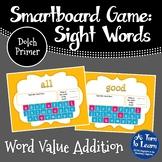 Sight Word Addition Game: Dolch Primer Words (Smartboard/Promethean Board)