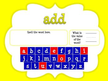 Word Value Game for Fry's 3rd 100 Words - Smartboard or Promethean Board!