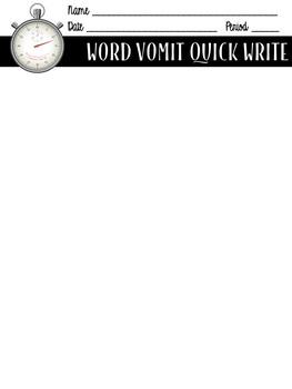 Word Vomit Handout