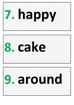 Word WALL: 192 High Frequency Words