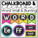 Word Wall Display in Chalkboard and Chevron Classroom Decor for Back To School