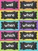Word Wall Display {Chalkboard and Chevron Classroom Decor Theme}