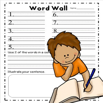 Word Wall Activities kindergarten, 1st grade