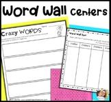 Word Wall Activities kindergarten, 1st grade