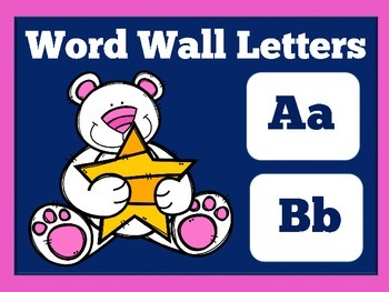 Word Wall Letters | Word Wall Headers