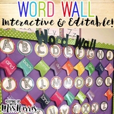 Interactive Word Wall - EDITABLE!