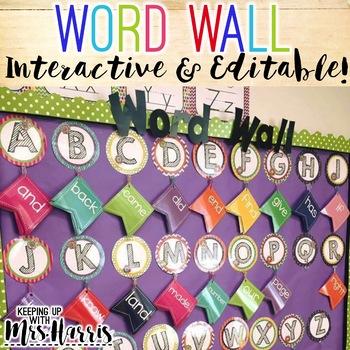 Interactive Word Wall - EDITABLE!