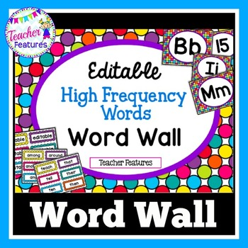 Word Wall Headers and High Frequency Words