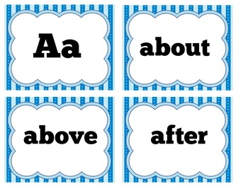 Second Grade Word Wall | Word Wall Cards | Word Wall Words