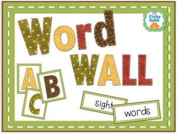 Word Wall Set - Letters and Sight Words (editable)
