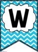 Word Wall {Primary Colors Chevron Classroom Decor Theme}