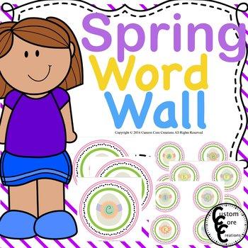 Spring Word Wall Classroom Decor