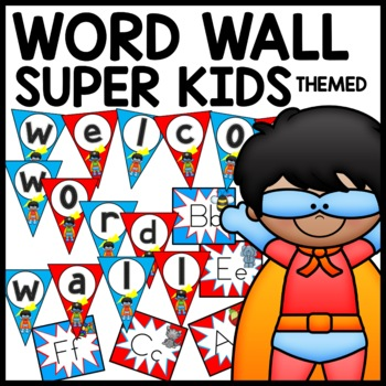 Word Wall (Superhero Themed)
