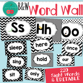 Black and White Word Wall Letters