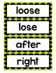 "Word Wall- 28 ""No more mistakes"" words"