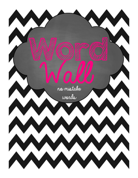 """Word Wall- 28 """"No more mistakes"""" words"""