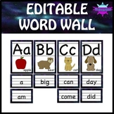 EDITABLE Word Wall - Sight Words - Names - Color Words